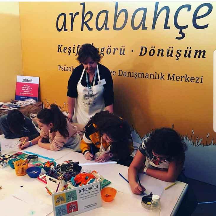 Arkabahçe Psikoloji Çocuk Sanat Festivali'ndeydi