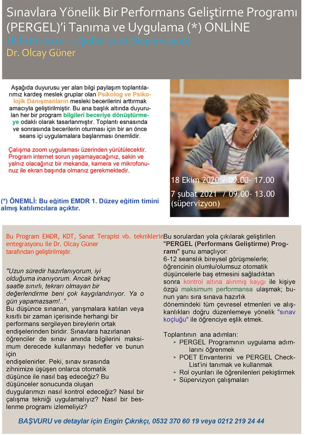 Sınavlara Yönelik Bir Performans Geliştirme Programı (PERGEL)'i Tanıma ve Uygulama Bilgilendirme Toplantısı