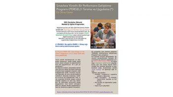 Sınavlara Yönelik Bir Performans Geliştirme Programı (PERGEL)
